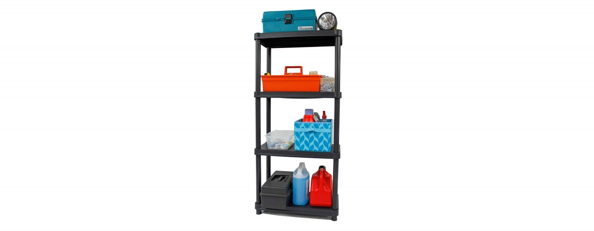 12'' Resin Shelving System - 4 Levels (#1224-4SR)