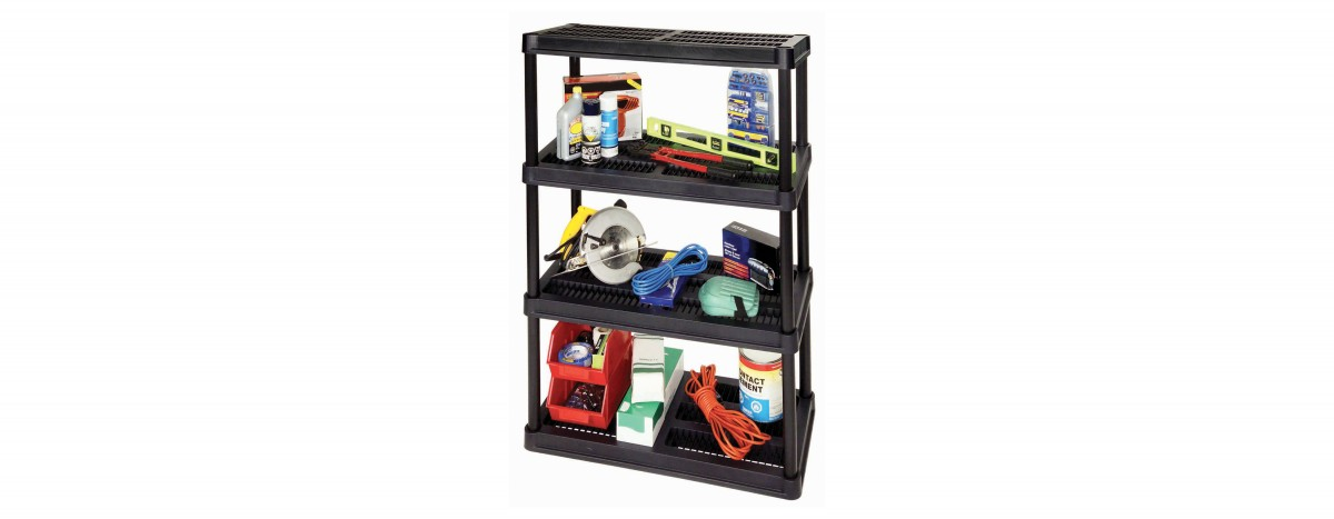 18'' Resin Shelving System - 4 Levels (#3618-R4V)