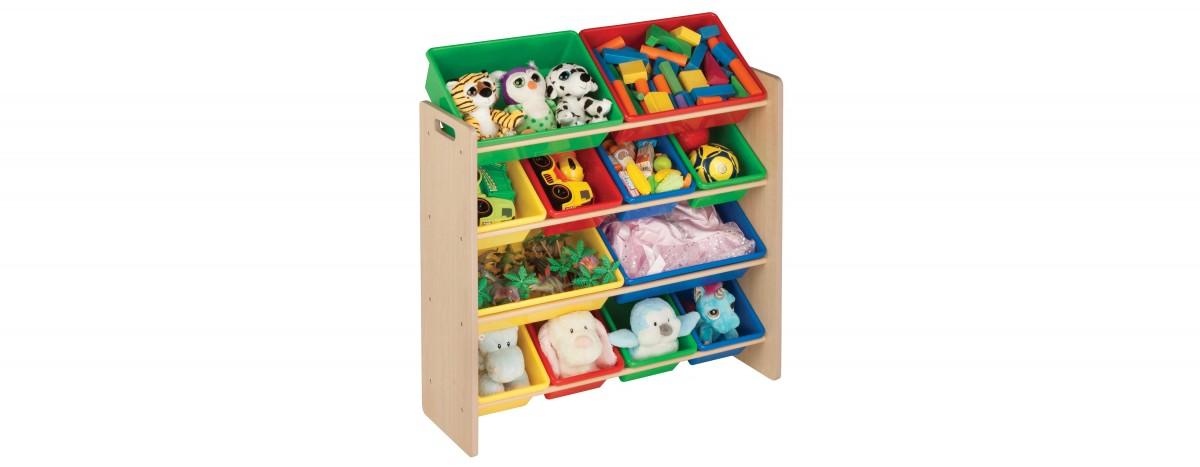 Kids 12 Plastic Bin Organizer