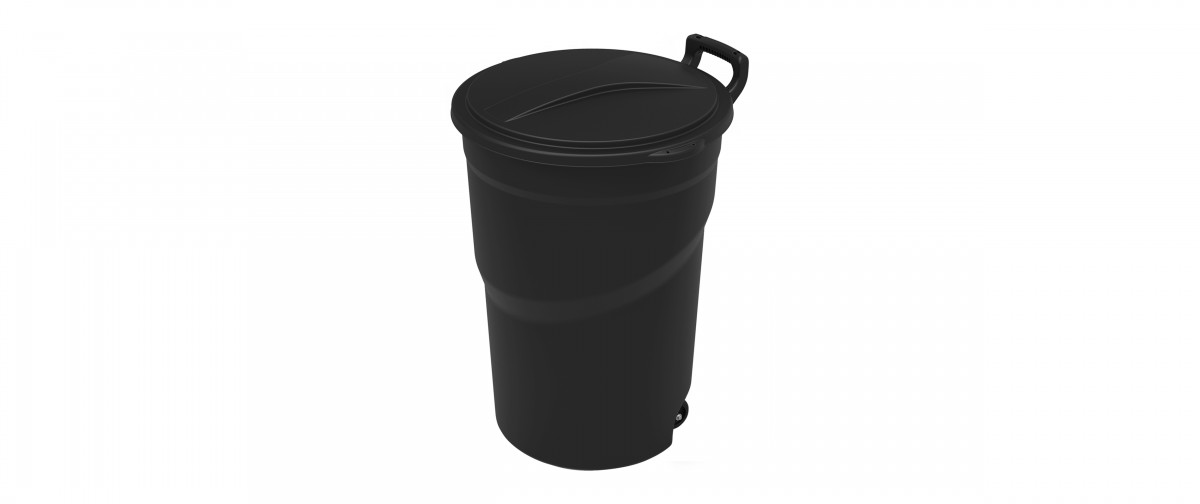 Wheeled Outdoor Trash Can (121L / 32G)