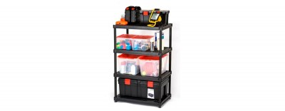 24'' Resin Shelving System - 4 Levels (#3624-R4V)