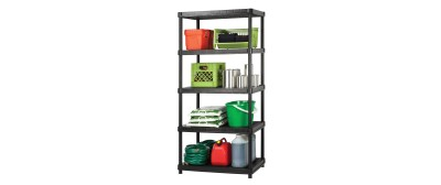 24'' Resin Shelving System - 5 Levels